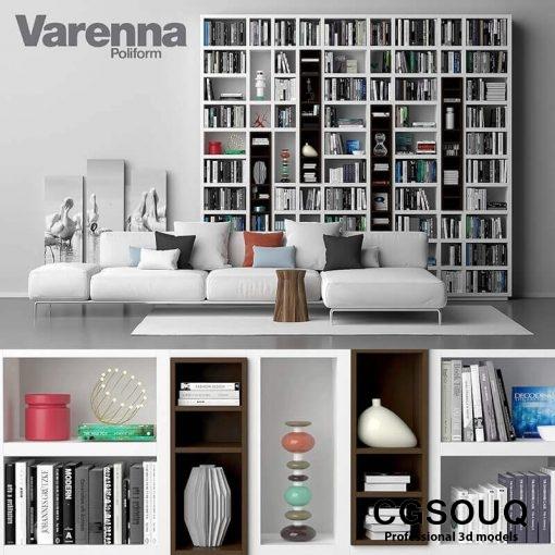 Varenna Poliform DAY SYSTEM 26 Cabinet 3D model 1