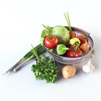 Vegetables 3D model (2)