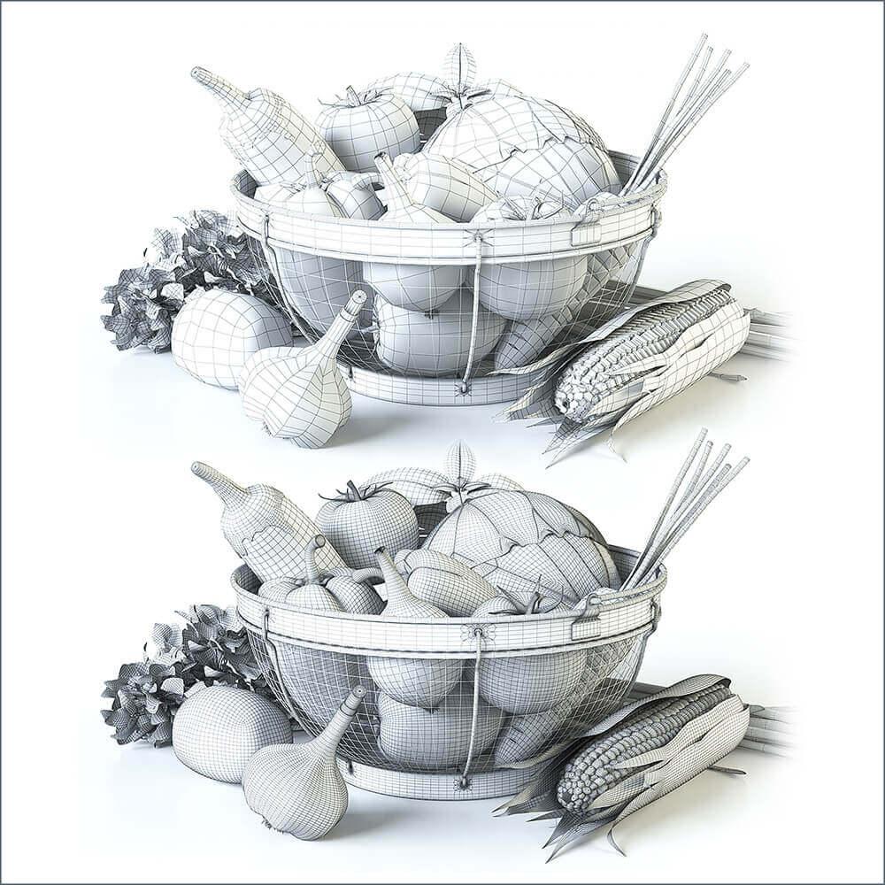 Vegetables 3D model (3)