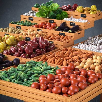 Vegetables Basket 3D model 9
