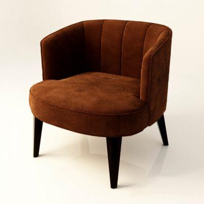 Velvet Chair 3D Model