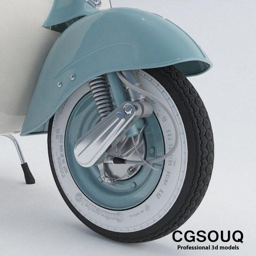 Vespa VNB 125 Tire 3D model