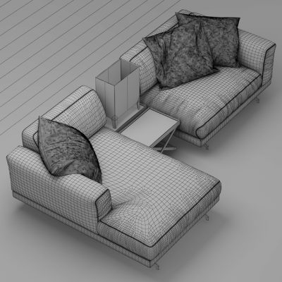 Vibieffe Fancy Sofa 3D Model