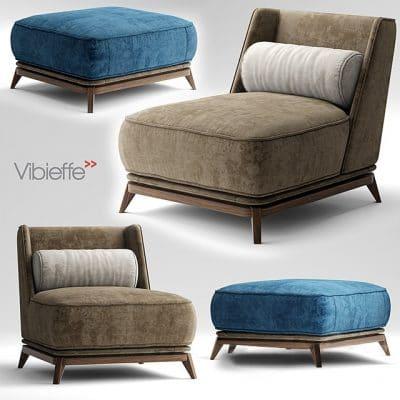 Vibieffe Opera Armchair 3D Model