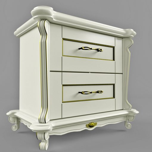 Victoria NightStand - Chest of Drawer 3D Model