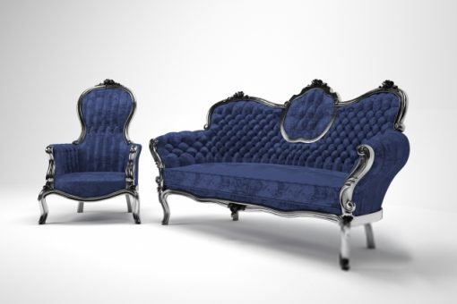 Victorian Sofa & Chair 3D Model