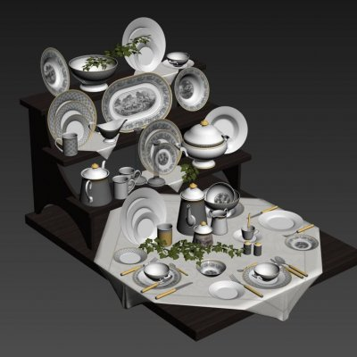 Villeroy & Boch Audun Classic Dinnerware Collection tableware 3D model 2