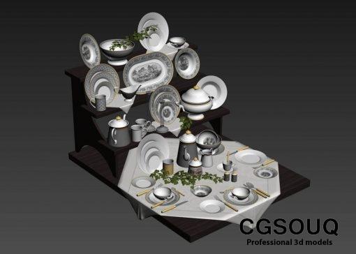Villeroy & Boch Audun Classic Dinnerware Collection tableware 3D model 2