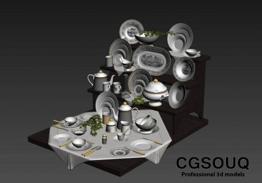 Villeroy & Boch Audun Classic Dinnerware Collection tableware 3D model 3