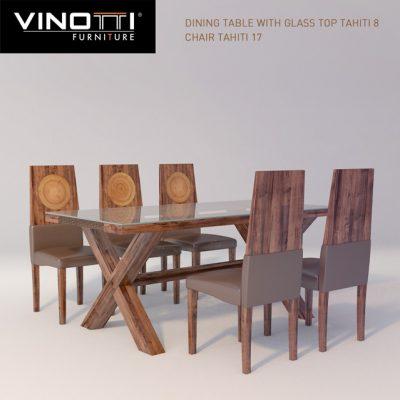 Vinotti Tahiti Table & Chair 3D Model