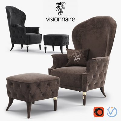 Visionnaire Alice Armchair 3D Model