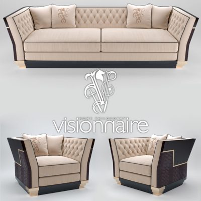 Visionnaire Berry Capitone Sofa 3D Model