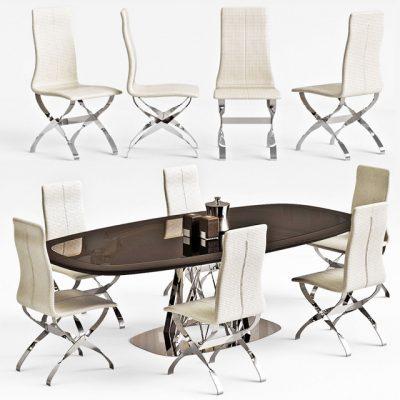 Visionnaire Dakar Spider Table & Chair 3D Model