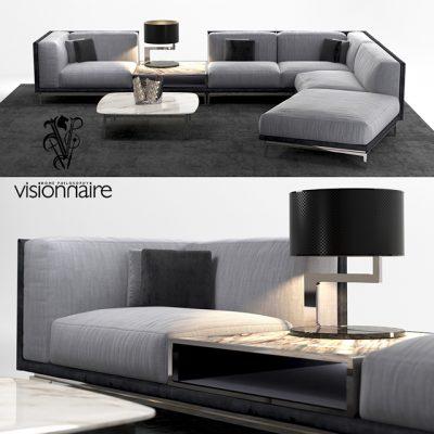 Visionnaire Legend Sofa Set 3D Model