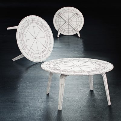 Vitra. Plywood Group – CTW Table 3D Model