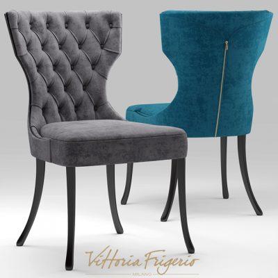 Vittoria Frigerio Adda Capitonne Table & Chair 3D Model 2