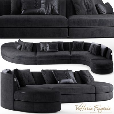 Vittoria Frigerio Borromeo Sofa 3D Model