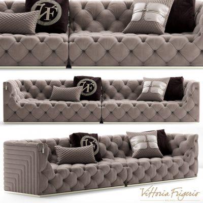 Vittoria Frigerio Caracciolo Sofa 3D Model