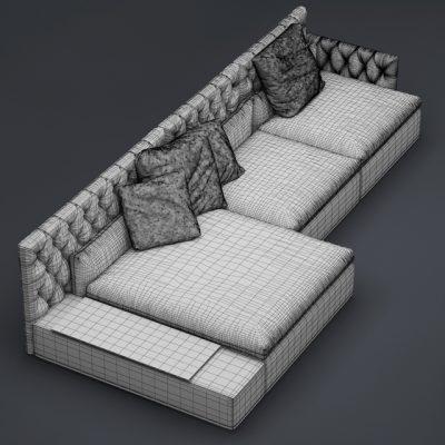 Vittoria Frigerio Dominio Sofa 3D Model 3