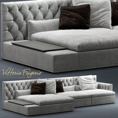 Vittoria Frigerio Dominio Sofa 3D Model