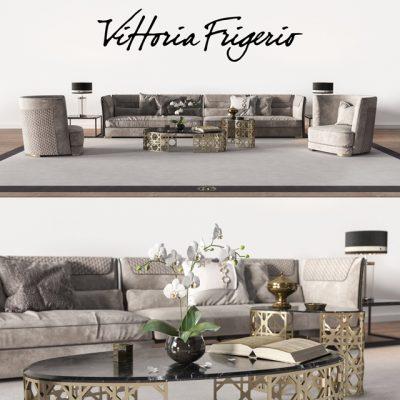 Vittoria Frigerio Part-1 Sofa 3D Model