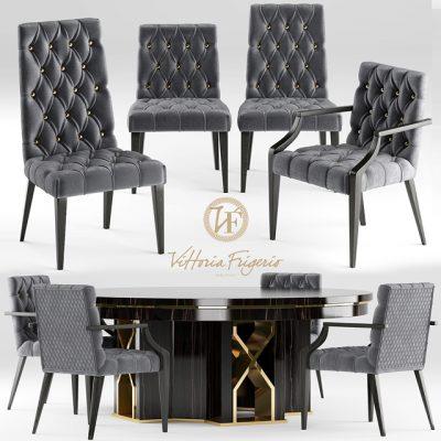 Vittoria Frigerio Table & Chair 3D Model