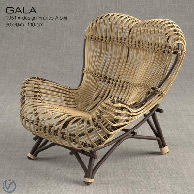 Vittorio Bonacina Gala Chair 3D Model