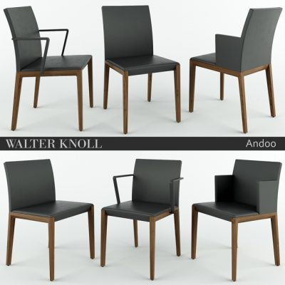 Walter Knoll Andoo Table & Chair 3D Model