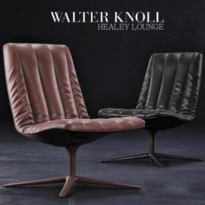 Walter Knoll Healey Lounge Chair 3D Model