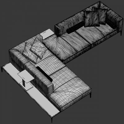 Walter Knoll Jaan Vol.02 Sofa 3D Model 3