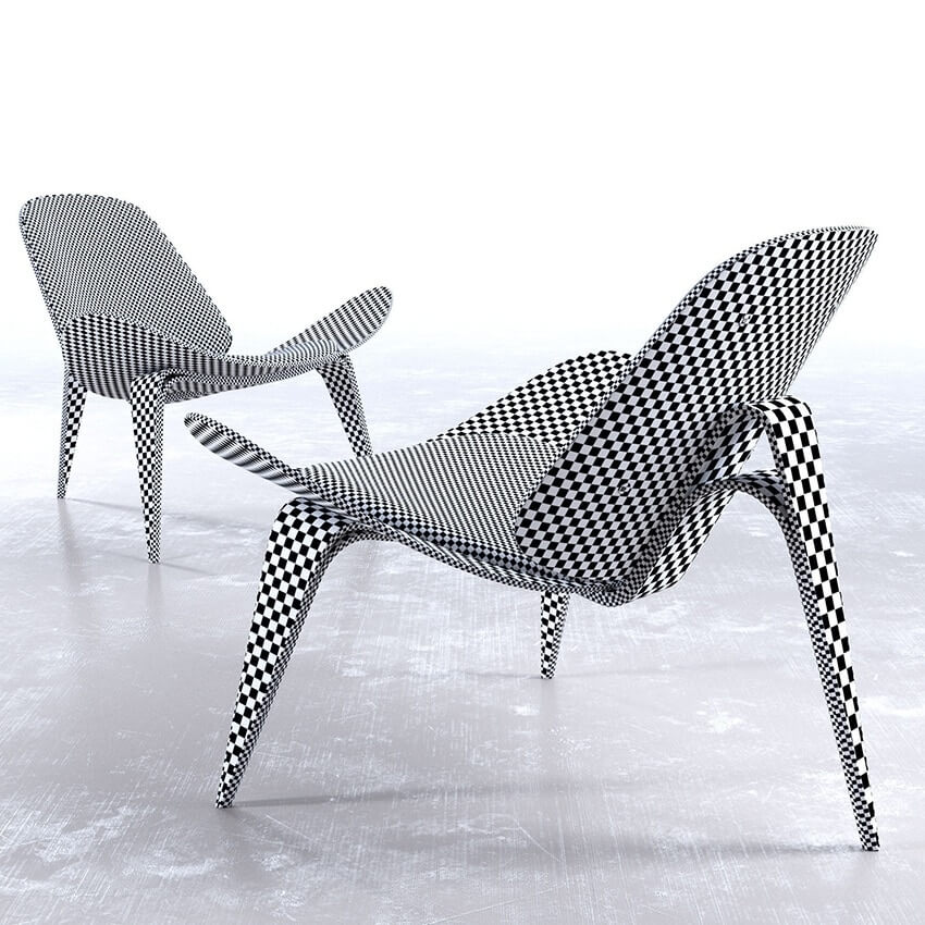 Wegner CH07 Shell Chair 3D model 2