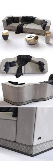 Welles Double Depth Sofa 3D Model 2