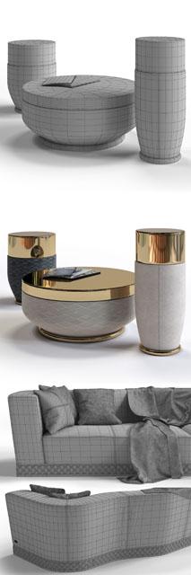 Welles Double Depth Sofa 3D Model 3