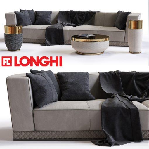 Welles Double Depth Sofa 3D Model