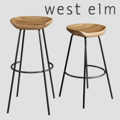 West Elm Alden Bar Stool 3D Model