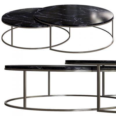 West Elm Globe Nest Coffee Table 3D Model