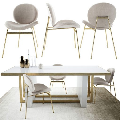 West Elm Jane and Whitney - Table & Chair 3D Model