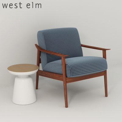 West Elm Mid Century Upholstered Chair 3D Model