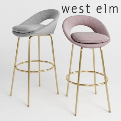 West Elm Orb Bar Stool 3D Model