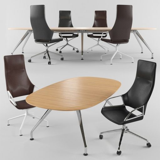 Wilkhahn Graph Conference Table & Chair 3D Model