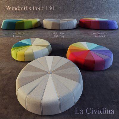 Windmills 180 cm Pouf 3D Model