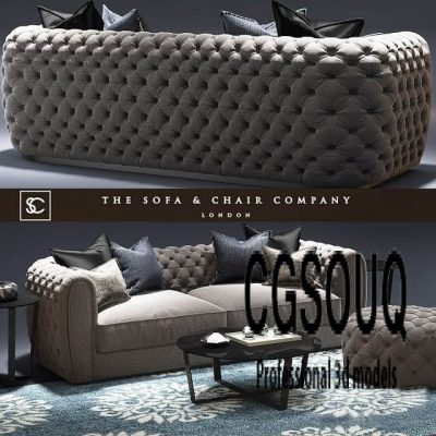 Windsor Sofa The sofa and chair Company Cromwell table Tufted 3D model