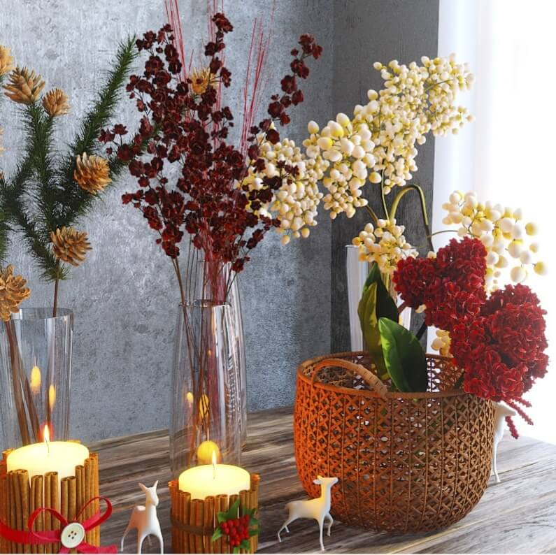 Winter flowers set 2