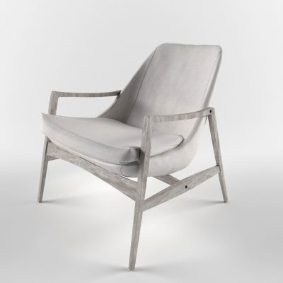 Wood-Made Armchair 3D Model
