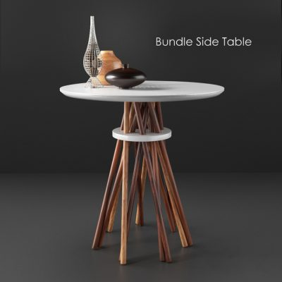 Wooden Bundle Side Table 3D Model