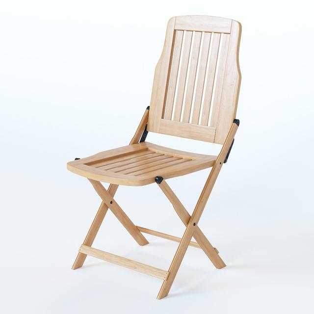 Wooden Folding Chair 3D Model