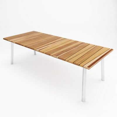 Wooden Lounge Table 3D Model