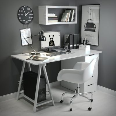 Workplace BW - Office Furniture 3D Model