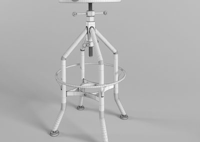 Wright Stool 3D Model 3