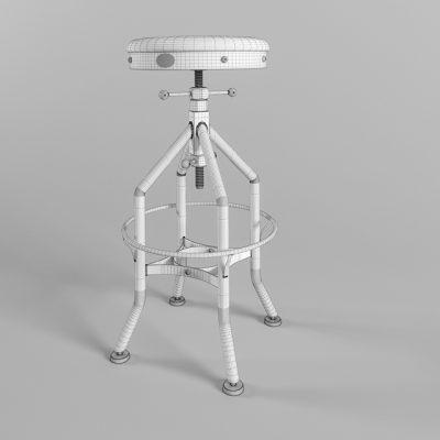 Wright Stool 3D Model
